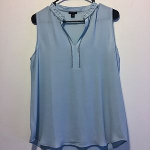 Ann Taylor Pale Blue Tank Top